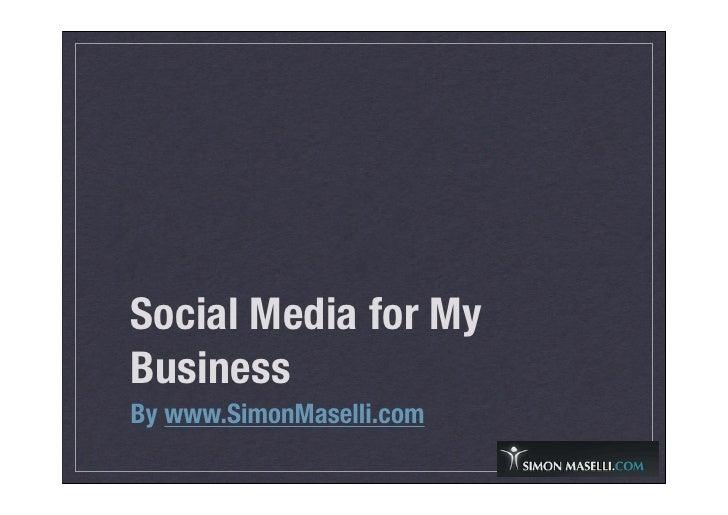Social Media for My Business