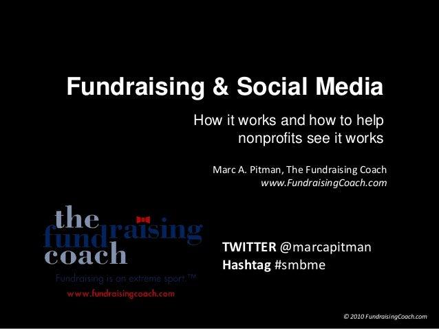Marc A. Pitman, The Fundraising Coach www.FundraisingCoach.com © 2010 FundraisingCoach.com Fundraising & Social Media How ...