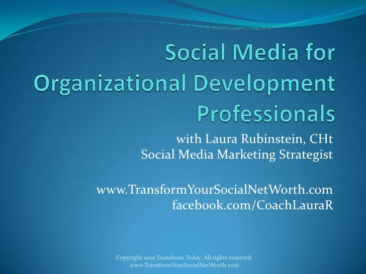 Social media for organizational development professionals