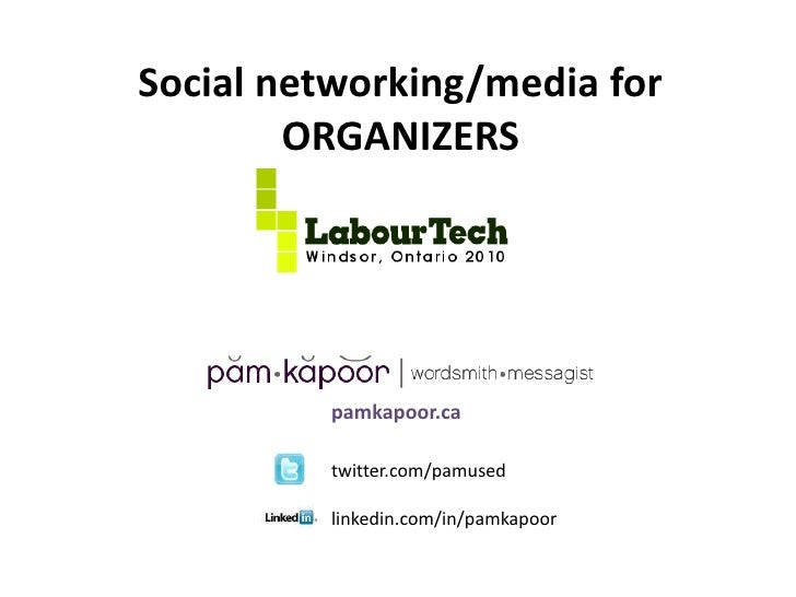 Social media for organizers