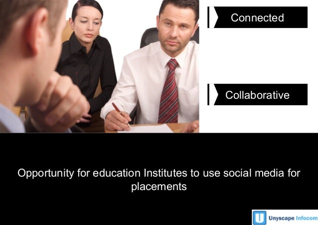 Unyscape Infocom1 Connected Collaborative Opportunity for education Institutes to use social media for placements