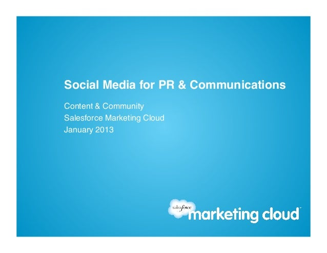 Social Media for PR and Communications