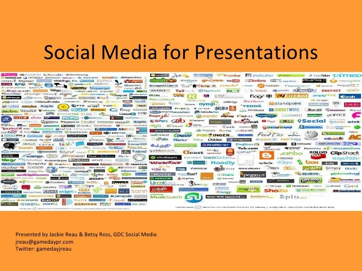 Social media for presentations, 12 10 - copy