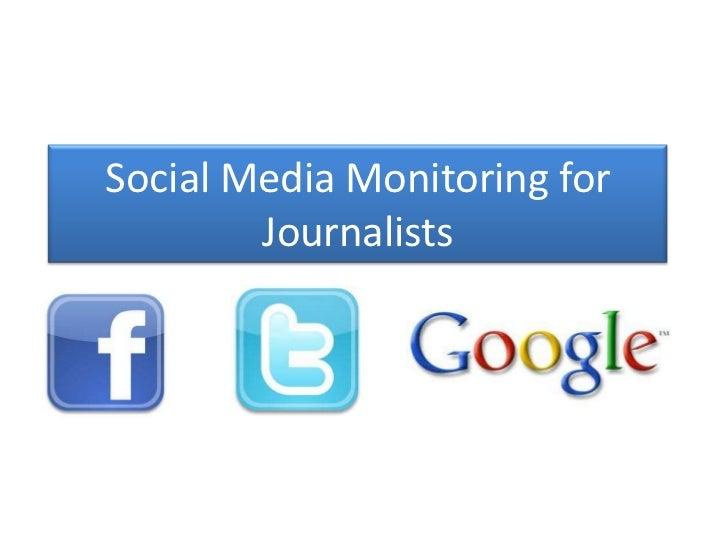 Social media for reporting