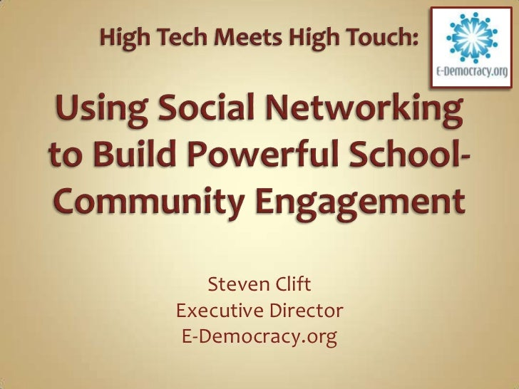 Social Media for Schools and Community Engagement
