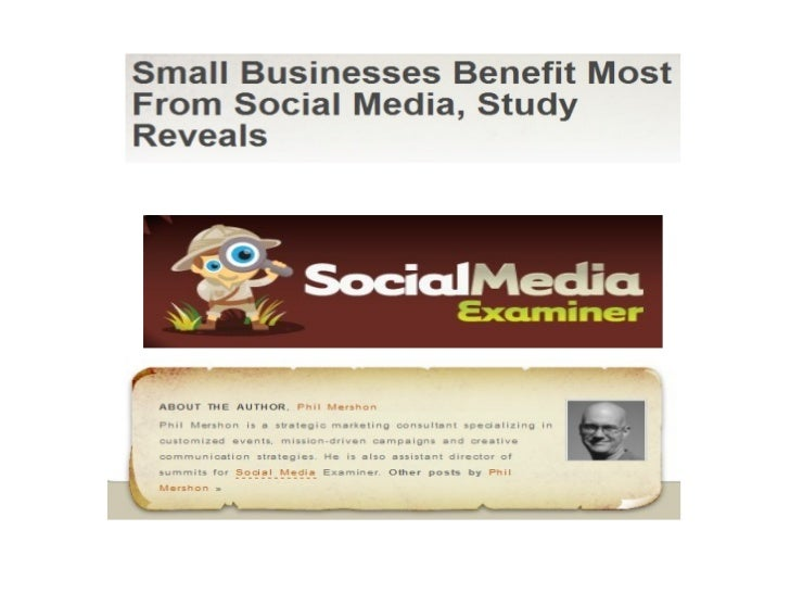 Small Businesses Benefit Most From Social Media
