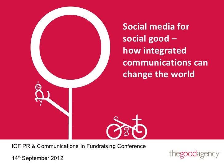 Social media for                                        social good –                                        how integrate...