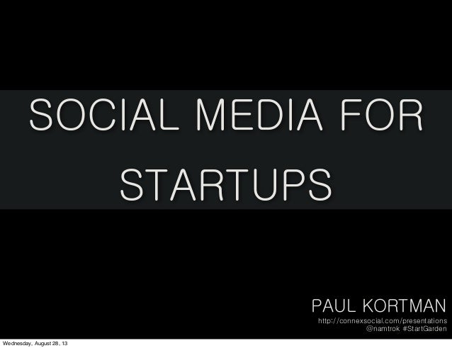 Social Media for Startups: StartGarden