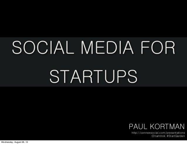 Social Media for Startups: StartGarden