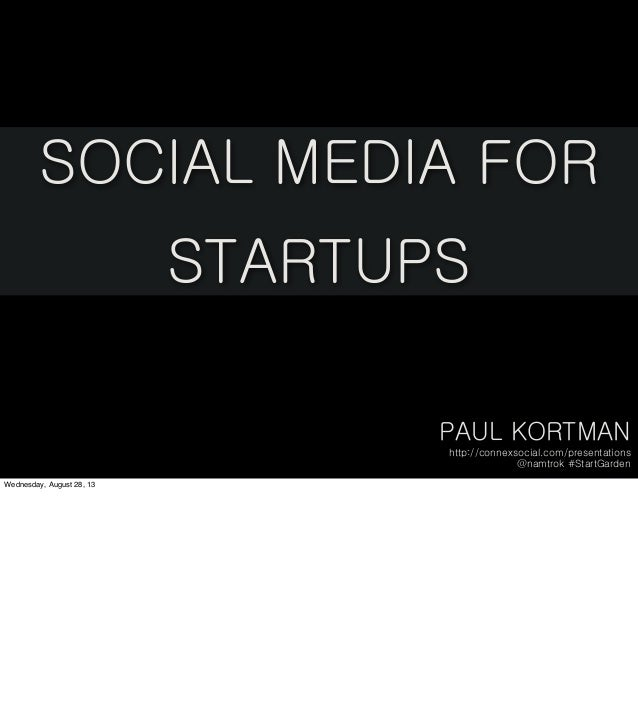 Social Media for Startups: StartGarden with notes