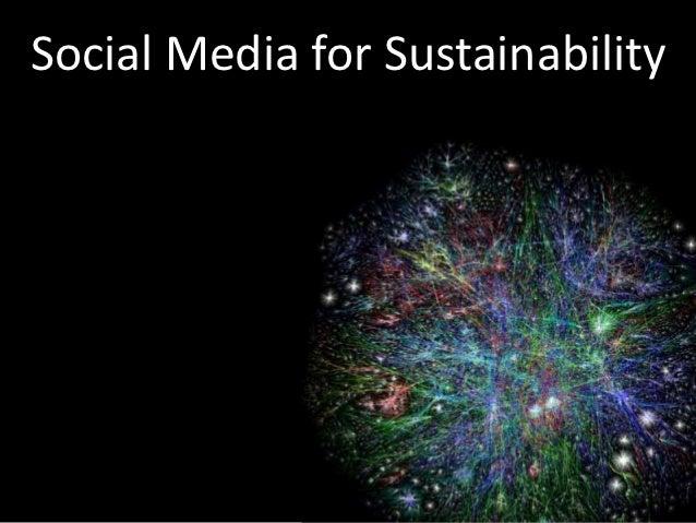 Social Media for Sustainability