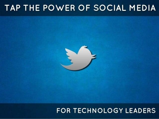 Social media for technology leaders