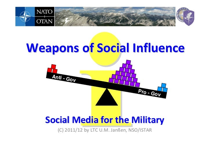 Weapons of Social Influence    An ti - G             ov                                        Pro - G                    ...
