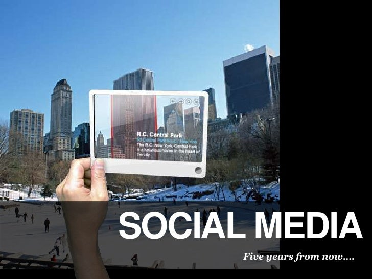 Social Media<br />Five years from now….<br />