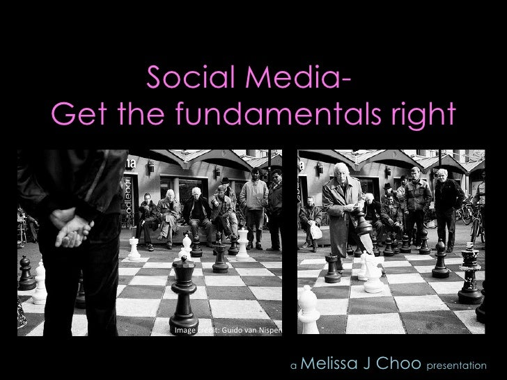 Social Media - Get The Fundamentals Right