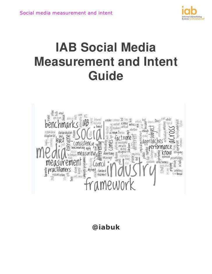 IAB Social Media Measurement and Intent Guide