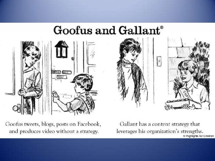 Social Media Guidelines With Goofus And Gallant