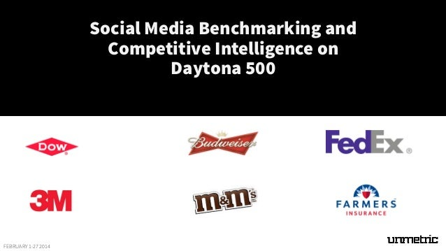 Social Media Benchmarking and Competitive Intelligence on Daytona 500  FEBRUARY 1-27 2014