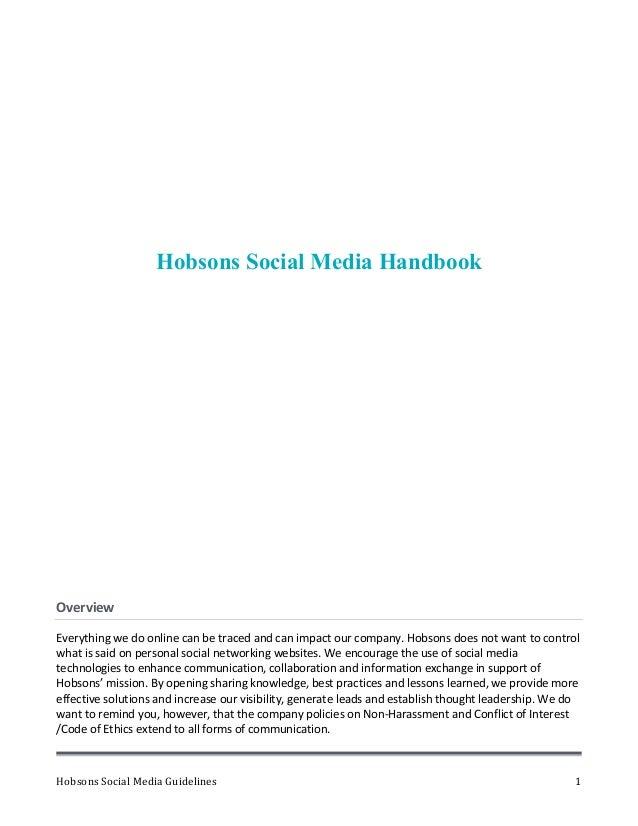 Social Media Playbook