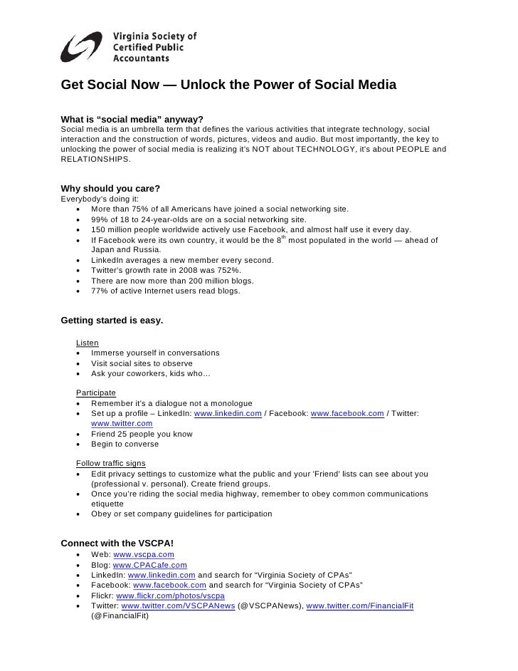 Richmond Chapter Social Media Handouts