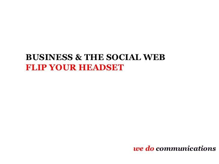 Social media headflip