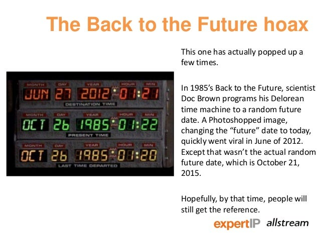 Back to the future dates traveled to