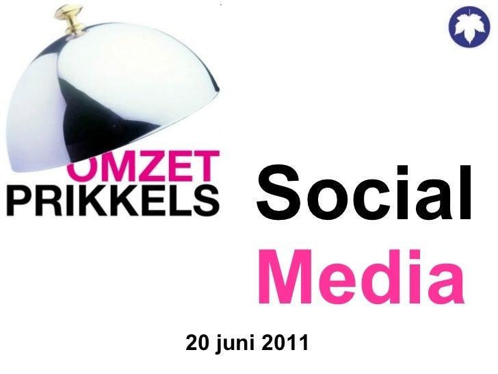 Social Media 20 juni 2011