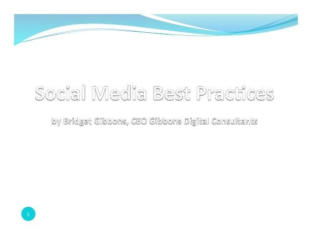 Social Media Best Practices for Hudson Valley Bank 2014