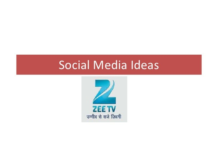 Zee Tv Social media ideas