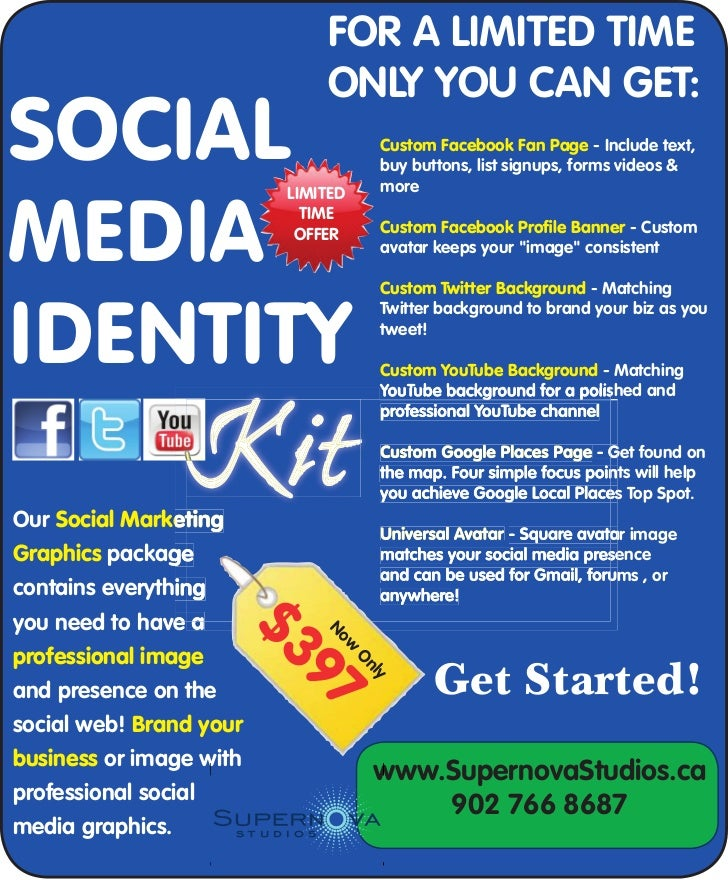 Social Media Identity Kit - Supernova Studios