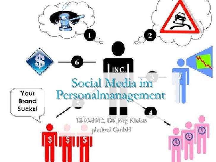 Social Media imPersonalmanagement   12.03.2012, Dr. Jörg Klukas         pludoni GmbH