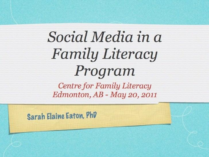 Social media in a family literacy program