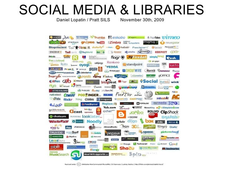 SOCIAL MEDIA & LIBRARIES Daniel Lopatin / Pratt SILS    November 30th, 2009  Daniel Lopatin Pratt  SILS  11.30.09