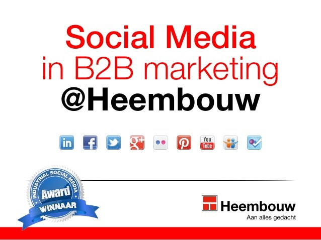 Social media in B2B Marketing Heembouw #MKBOC