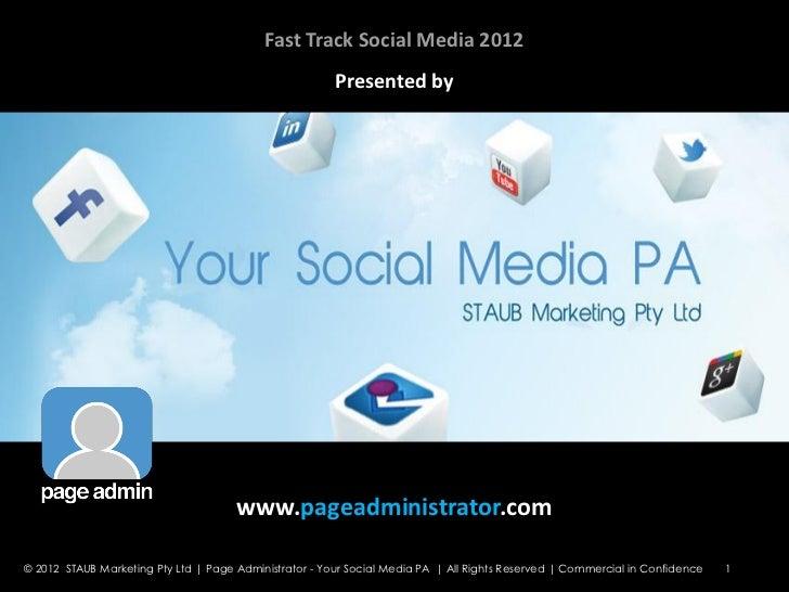 Fast Track Social Media Seminar Eureka