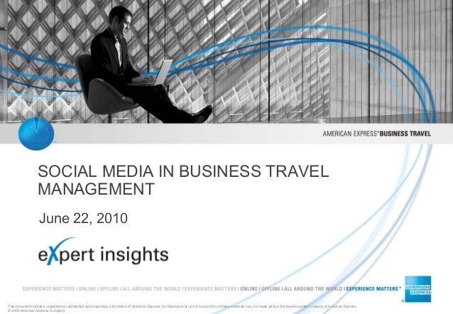 Social media in business travel management-amex paper