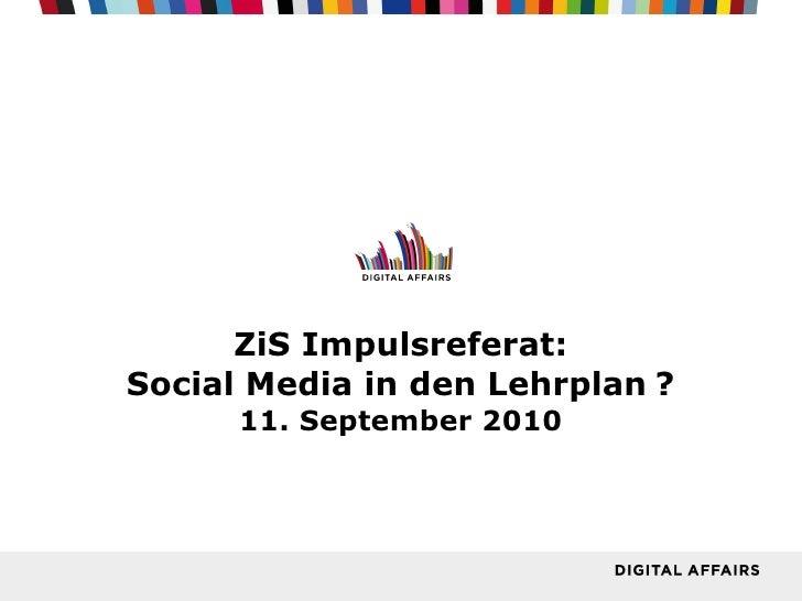 Socialmedia in den Lehrplan ?