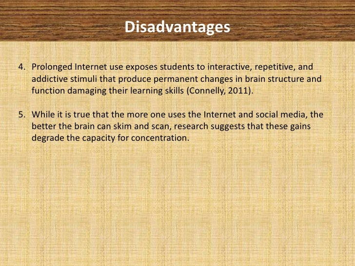 the internet and education essay Internet – advantages and disadvantages : (brief essay) the internet has vast advantages and its own list of disadvantages below is a short compare and contrast.