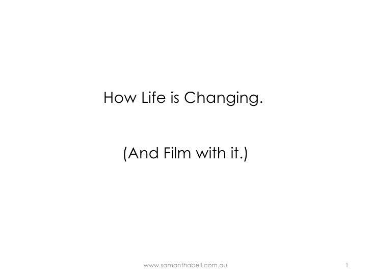 Social Media in Film presentation