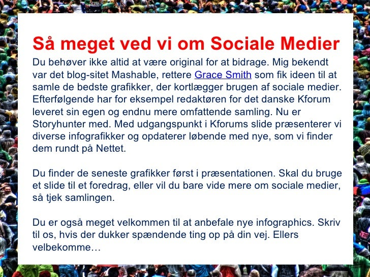 Social Media Infographics: Weekly updated, Version 1.2