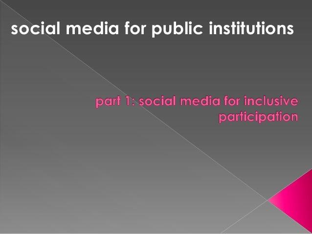 social media for public institutions