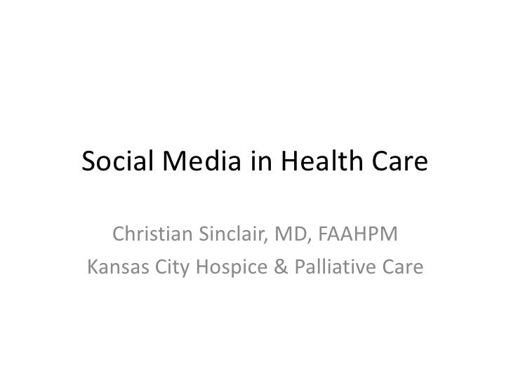Social Media in Health Care peoria 2010