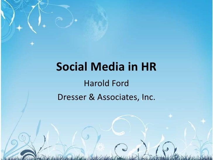 Social media in HR   2011