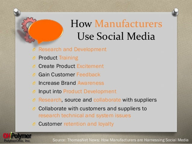 Image result for social media in manufacturing