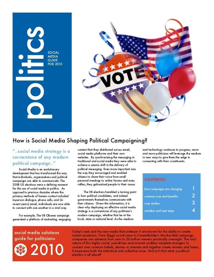Social media in politics 2010