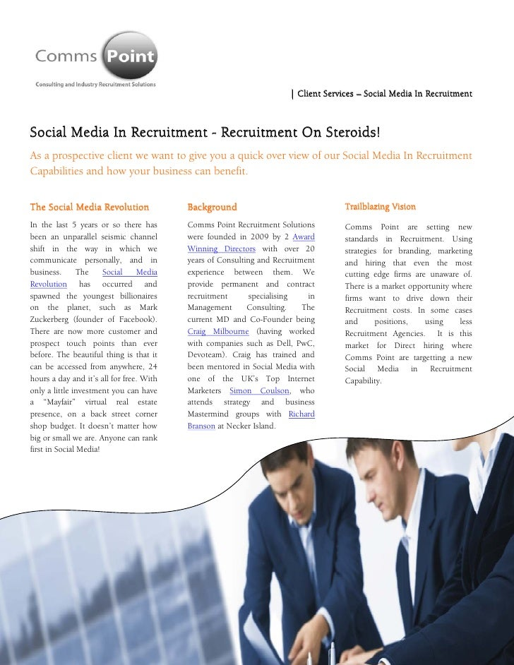 Social Media in Recruitment Services -  Comms Point Recruitment Solutions - Sep 2011 Rates