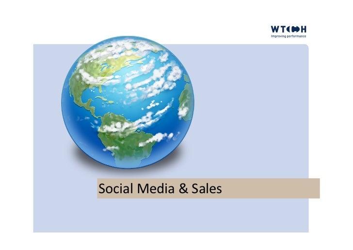Social Media In Sales The Basics