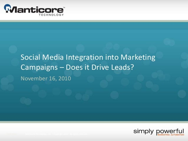 Social media integration into marketing campaigns – Does it Drive Leads?