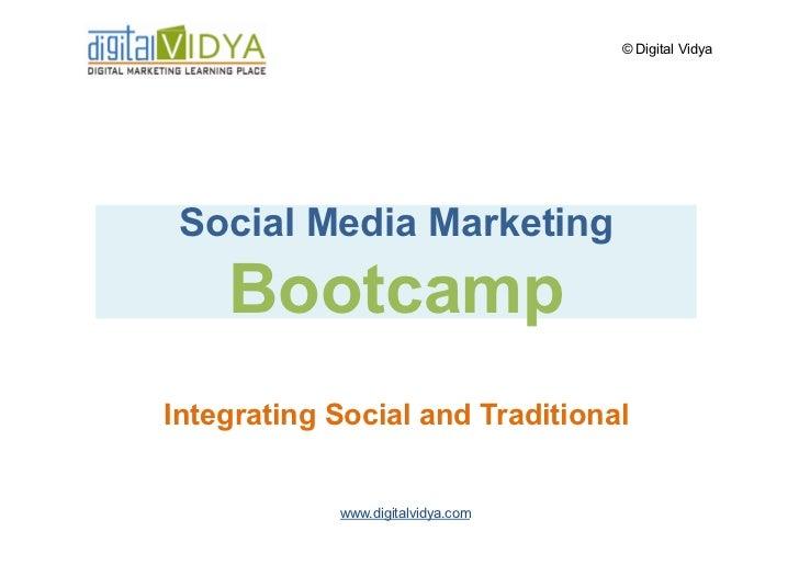 Social Media Marketing Integration with Traditional Marketing