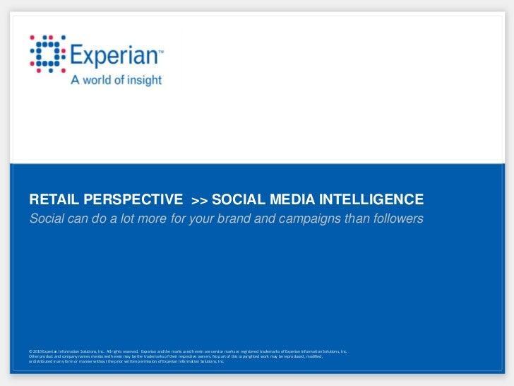 Social media intelligence   retail perspective (9-28-11)
